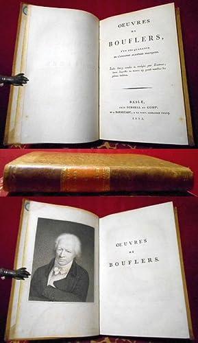 Oeuvres de Bouflers (sic!), l'un des quarante: Stanislas Jean, Chevalier