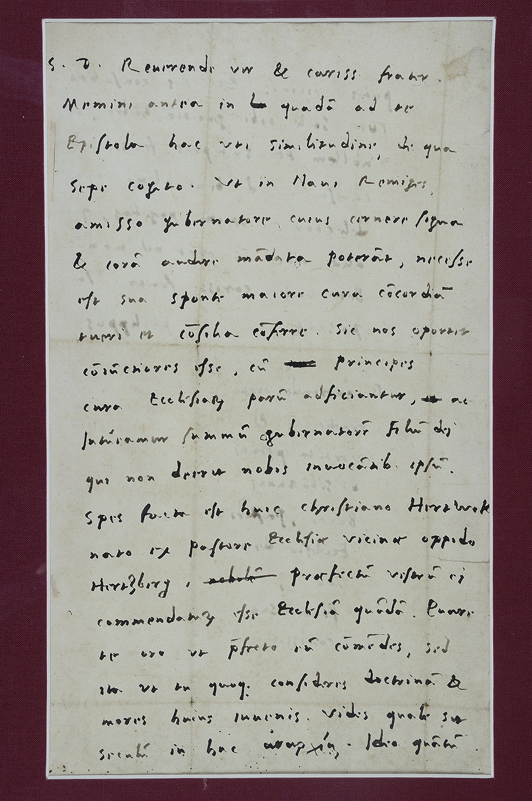 Autograph letter, signed, from Philipp Melanchthon to: MELANCHTHON, Philipp.