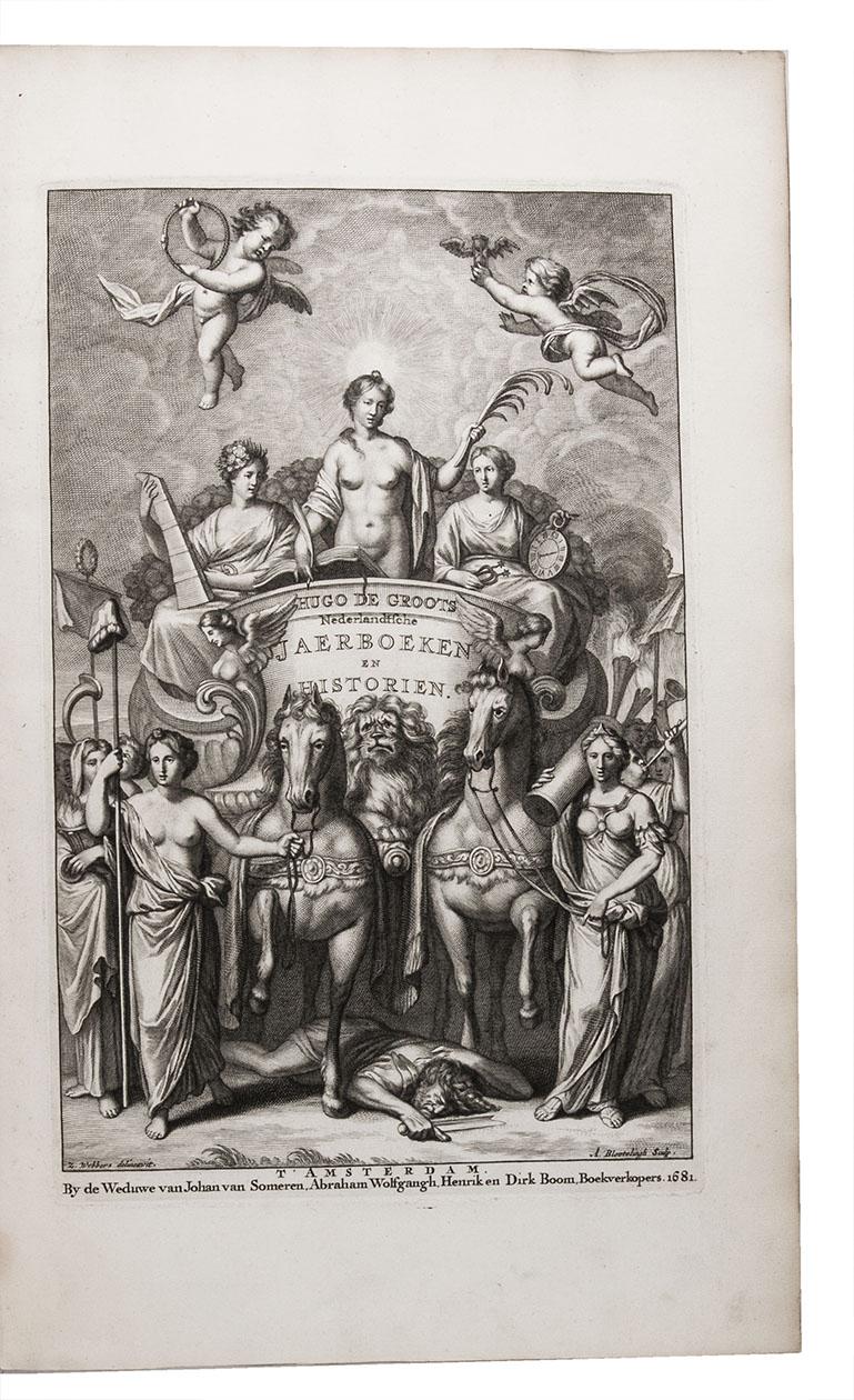Nederlandtsche jaerboeken en historien, sedert het jaer MDLV tot het jaer MDCIX . Alles vertaelt door Joan Goris.Amsterdam, the widow of Joannes van