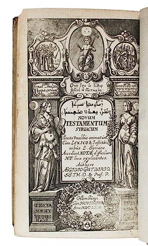 Novum Testamentum Syriacè, cum omnibus vocalibus, &: GUTBIER, Aegidius.
