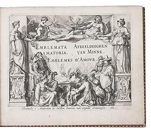 Emblemata amatoria. Afbeeldinghen van minne. Emblemes d'amour.: HOOFT, Pieter Cornelisz.].