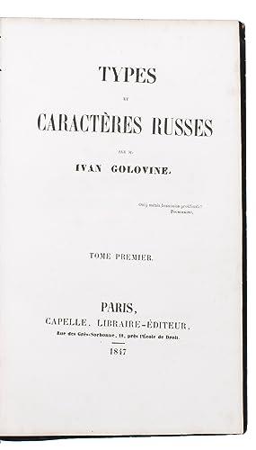 Types et caractères Russes.Paris, Capelle (back of: GOLOVINE, Ivan (Ivan