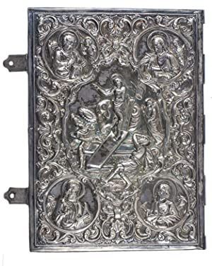 Pair of embossed silver book covers, with: BINDING - SILVER].