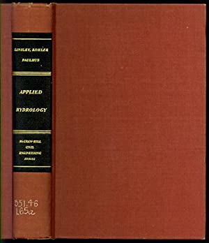 Applied Hydrology: Linsley, Ray K.,
