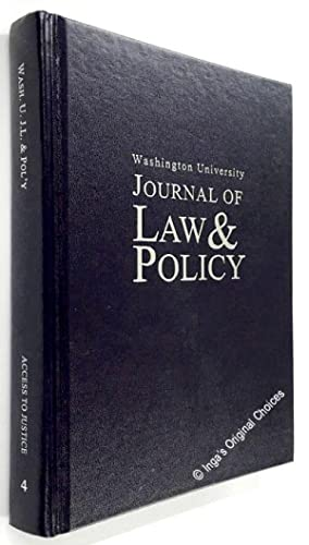 Washington University Journal of Law & Policy Volume 4