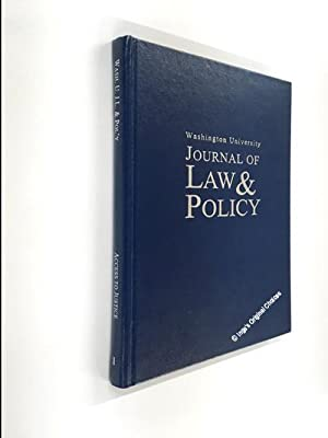 Washington University Journal of Law & Policy Volume 1