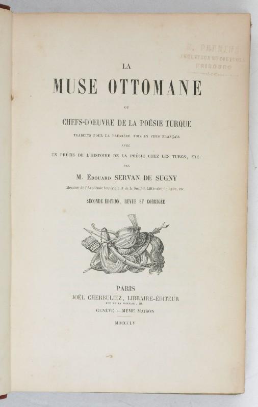 viaLibri ~ La Muse Ottomane ou Chefs-d'Oeuvre de la Poésie Turque ...