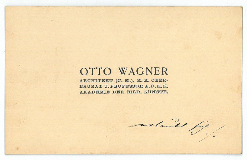 otto wagner autograph zvab. Black Bedroom Furniture Sets. Home Design Ideas