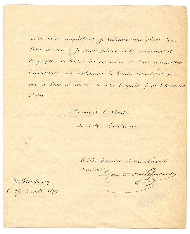 """LS (""""Le Comte de Nesselrode"""").: Nesselrode, Karl Robert"""