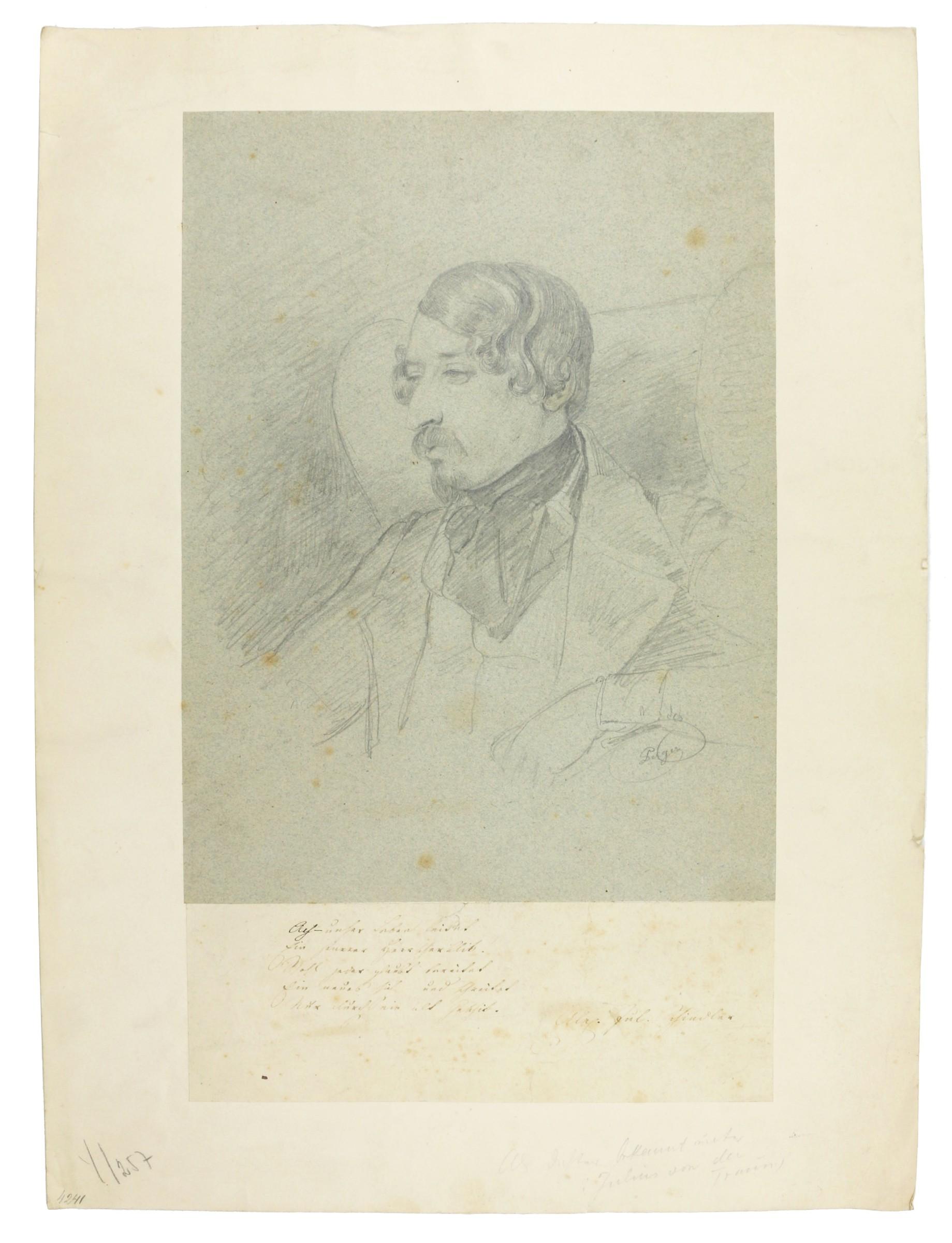 Portrait des Dichters Julius von der Traun: Perger, Anton Ritter