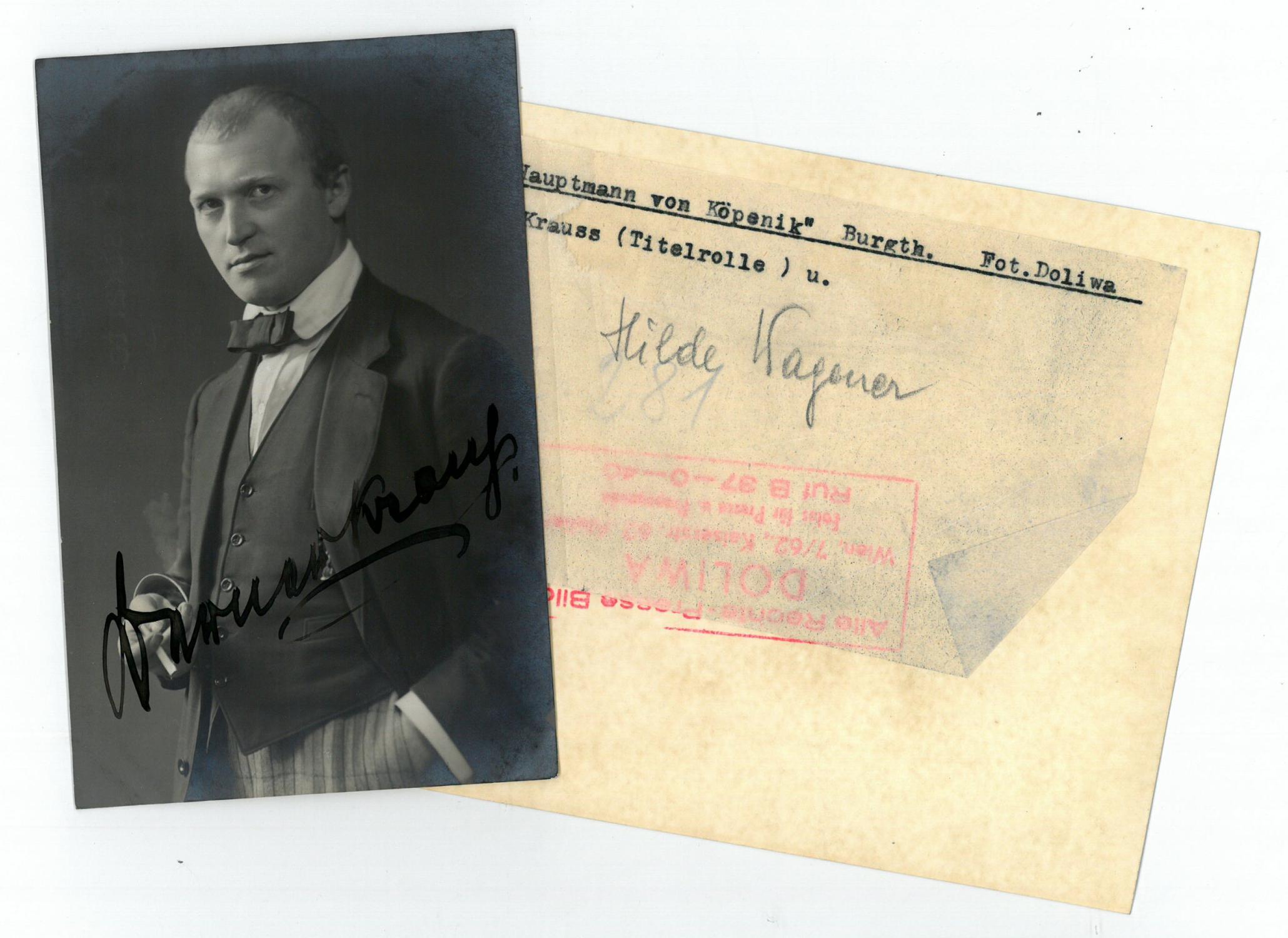 Alois Lang Intellektuell Autogramm Passionsspiele 1934