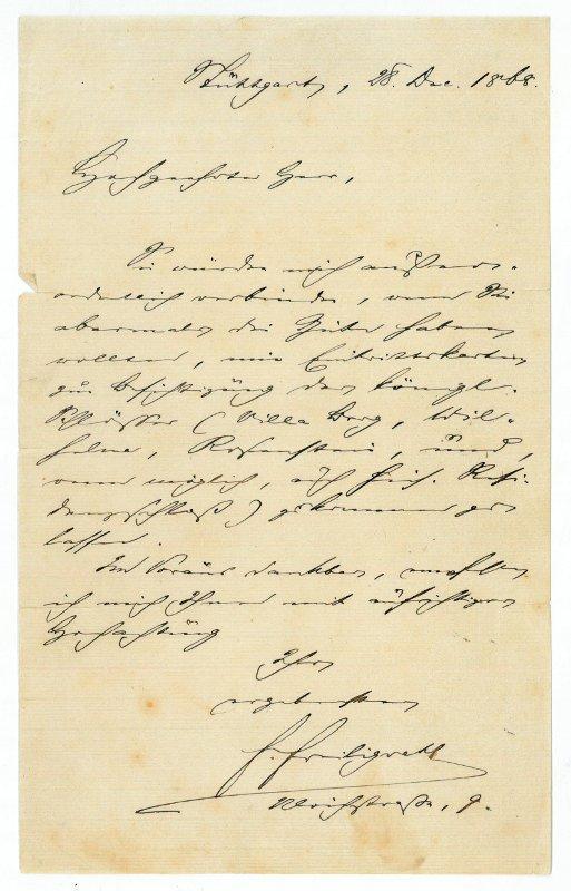 "Autograph letter signed (""F. Freiligrath"").: Freiligrath, Ferdinand, German"
