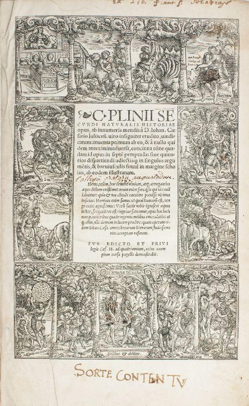 Naturalis historiae opus.: Plinius Secundus, Gaius
