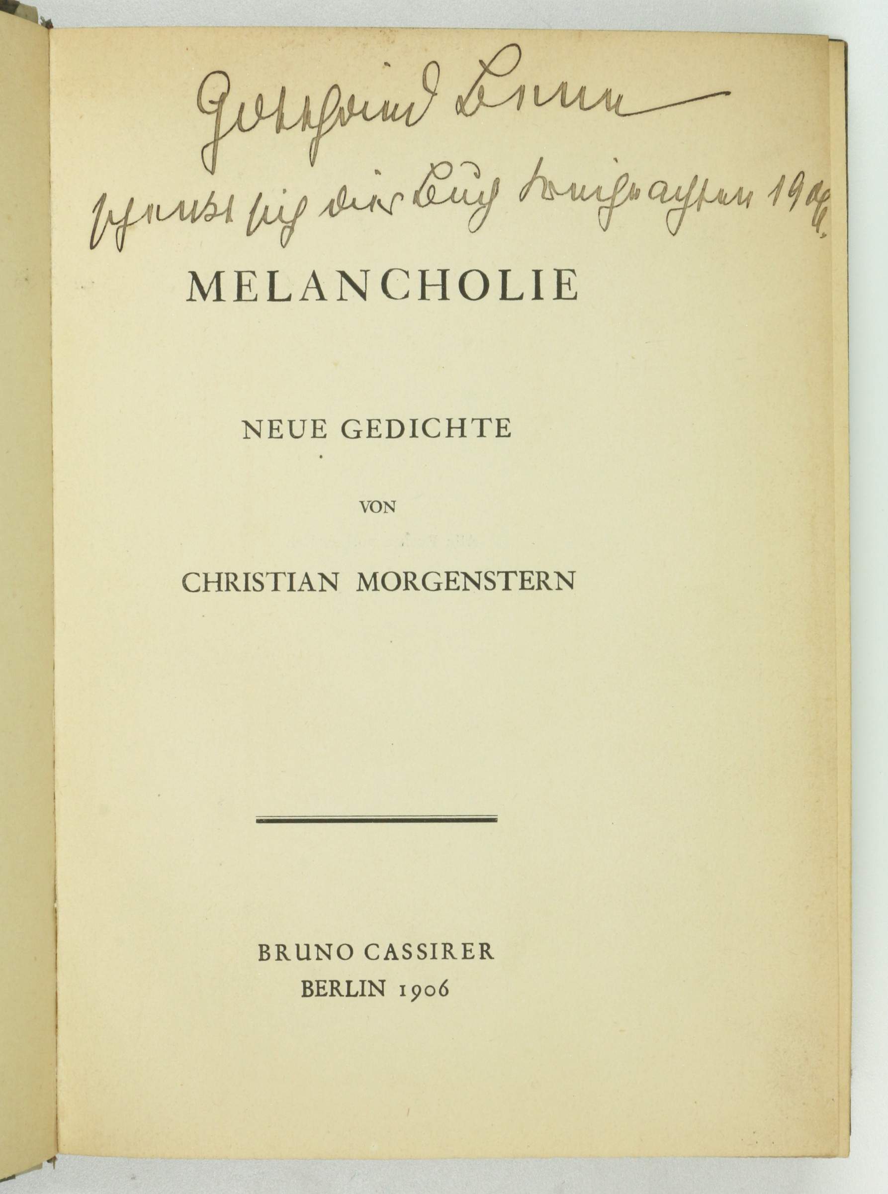 Autograph Inscription Signed In Christian