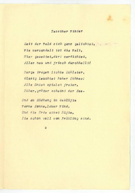Ein Paar Gedichte Von Hermann Hesse