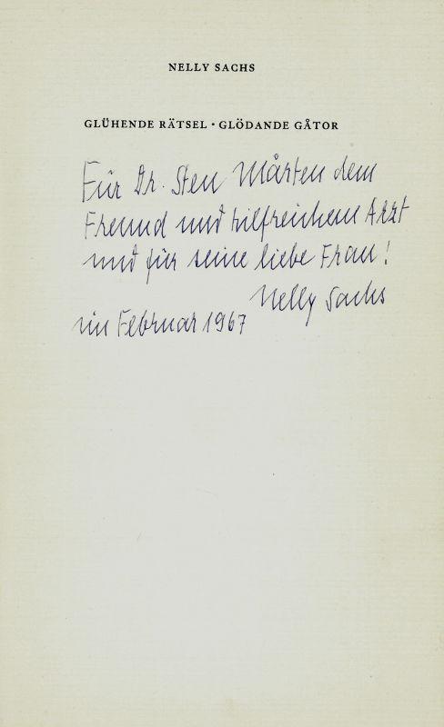 antiquarisches Buch – Sachs, Nelly – Fahrt ins Staublose. Die Gedichte der Nelly  Sachs
