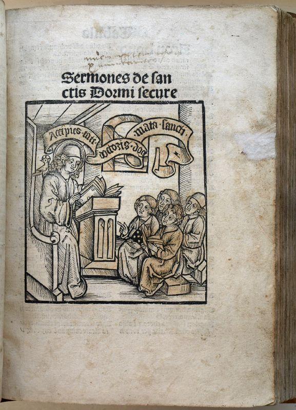 Sermones dormi secure de tempore et de: Johannes de Verdena.