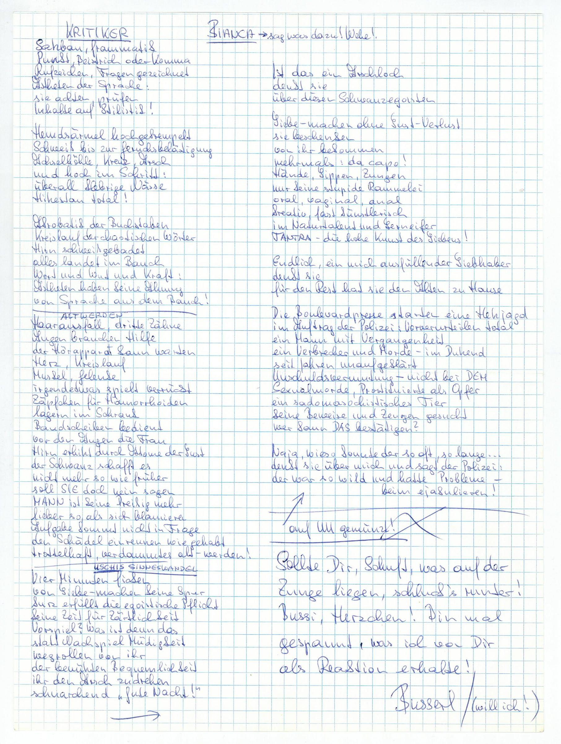 3 autogr. manuscripts.: Unterweger, Jack, Austrian