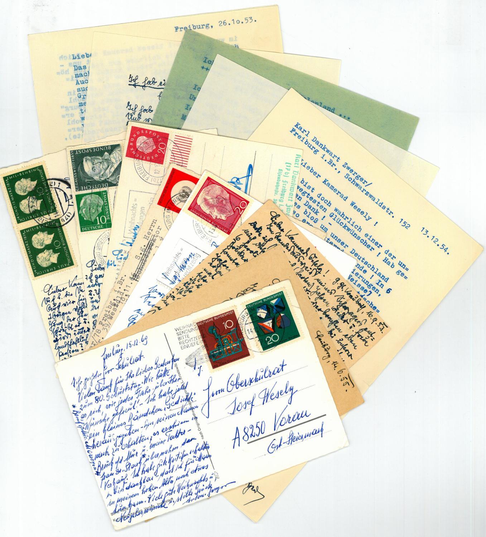 Sammlung Von 8 Eigenh Postkarten Mit U 2