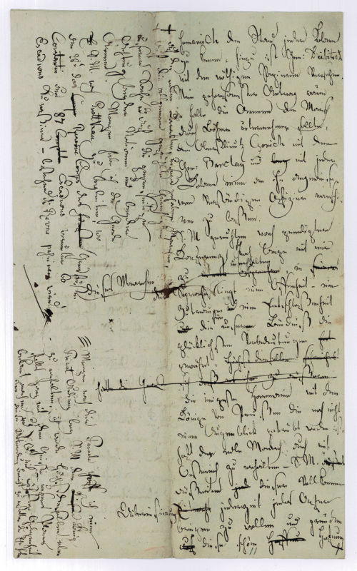 Autograph letter or letter draft, unsigned.: Latour, Theodor Count