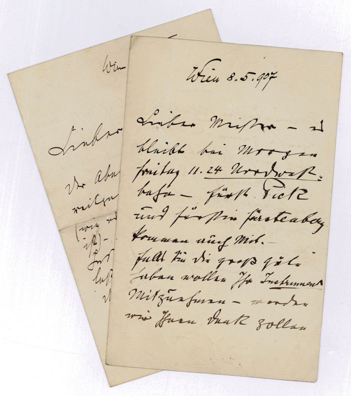 """2 eigenh. Briefe mit U. (""""Wilczek"""").: Wilczek, Hans von,"""