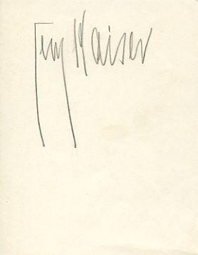 Albumblatt mit eigenh. Namenszug.: Kaiser, Georg, Schriftsteller