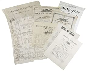 Set of horse racing posters and programmes.: Horse Race].