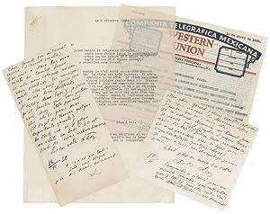 3 (davon 2 eigenh.) Briefe mit U.: Trotzki, Leo, Politiker