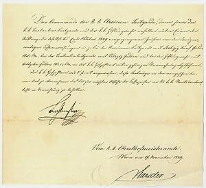 Brief mit eigenh. U.: Liechtenstein, Karl Fürst