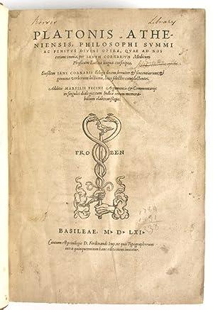 Opera, quae ad nos extant omnia, per: Platon.
