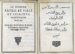 Liber psalmorum Davidis regis, et prophetae. Ex: Biblia arabico-latina -