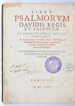 Liber psalmorum Davidis regis et prophetae. Ex: Biblia syro-latina].