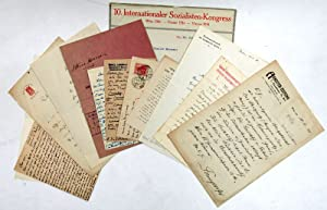 11 autogr. signed letters or postcards from: Socialist International]. -