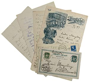 Collection of 4 autograph letters and 2: Munch, Edvard, Norwegian