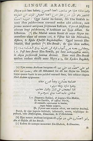 De antiquitate, elegantia, utilitate, linguae Arabicae, oratio: Hunt, Thomas.