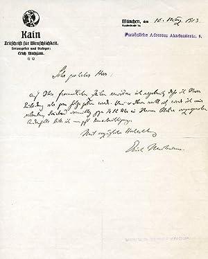 ALS.: Mühsam, Erich, writer