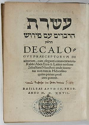 Aseret had-devarim 'im pêrûs. Decalogus praeceptorum divinorum: Biblia hebraica -