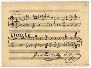 Eigenh. musikalisches Albumblatt mit U.: Labitzky, Joseph, Komponist