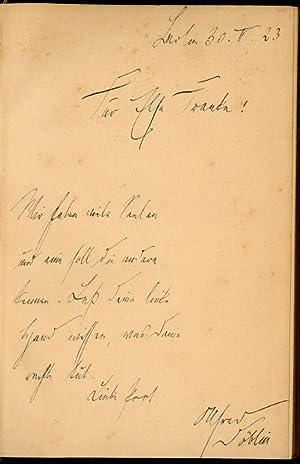 Autograph inscription signed in: Georg Kaiser, Das: Döblin, Alfred, German