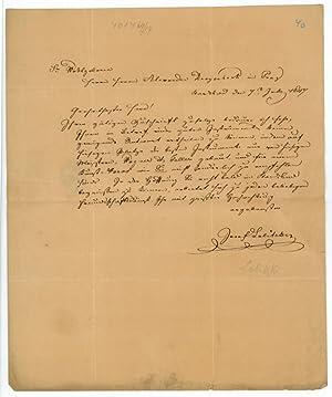 Eigenh. Brief mit U.: Labitzky, Joseph, Komponist