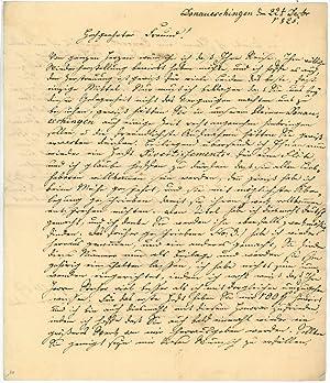 Eigenh. Brief mit U.: Keller, Karl, Komponist