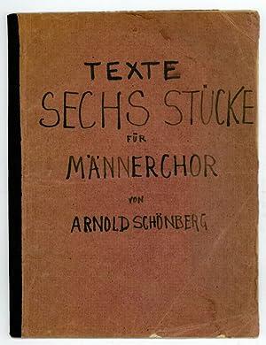 Texte. Sechs Stücke für Männerchor [op. 35].: Schönberg, Arnold, composer