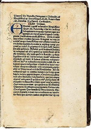 De honesta voluptate.: Platina, Bartolomaeus.