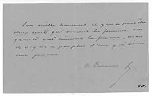 Autograph quotation signed.: Dumas fils, Alexandre,