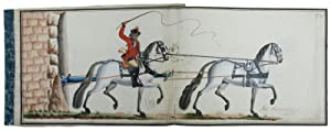 Eighteenth-century illustrated manuscript sample book of harness: Carriage Horses]. Fölsch,