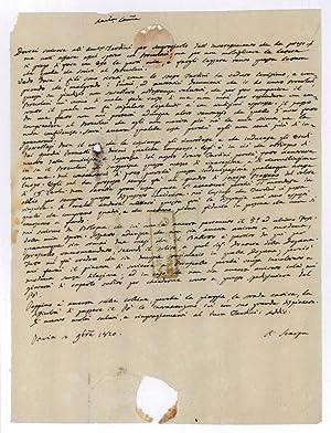 "Autograph letter signed (""A. Scarpa"").: Scarpa, Antonio, Italian"