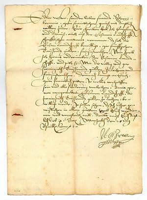 Brief mit eigenh. U.: Salm-Reifferscheid, Niklas Graf