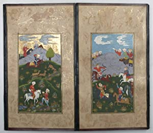 Collection of miniature paintings.: Persian miniature paintings].