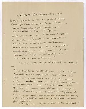 """Civilisations"""". Autograph manuscript.: Saint-Exupéry, Antoine de,"""