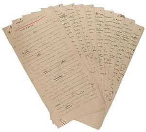 """Hoplopoiia, Iliada Sigma (S. 368-618)"""". Autograph manuscript: Kazantzakis, Nikos, Greek"""